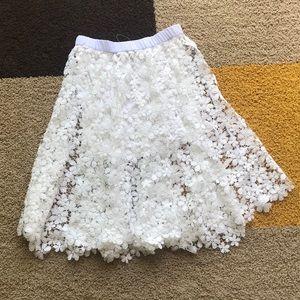 NEW ASTARS White Flowers Skirt | Size S